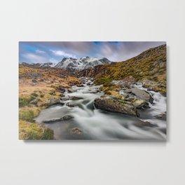 Mountain River Snowdonia Metal Print