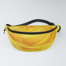Modern Abstract Seamless Yellow Rose Petals Fanny Pack