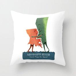 Louisiana Woman, Mississippi Man Throw Pillow