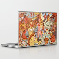 milk Laptop & iPad Skins featuring Milk & Blood by Andres Guzman