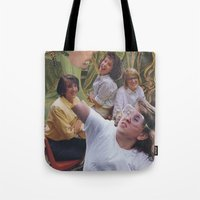sisters Tote Bags featuring Sisters by Jon Duci
