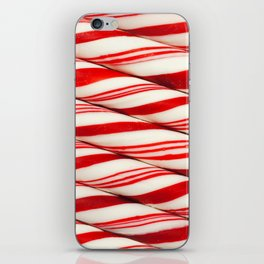 Candy Cane Pattern iPhone Skin