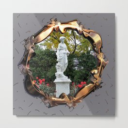 Flora Goddess of Flowers Metal Print