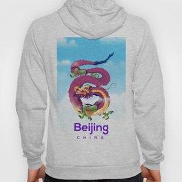 Beijing China Dragon travel poster Hoody