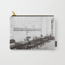 Going for Coffee in Brooklyn Black and White Carry-All Pouch
