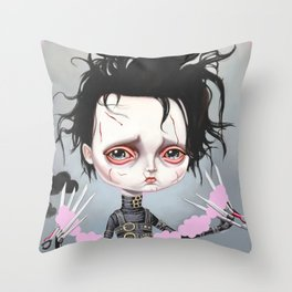 Edward Scissorhands Is Sad Throw Pillow