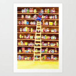 The Mouse That Wished He Was A Little Bit Taller... Art Print