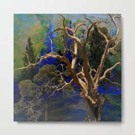CONTEMPORARY BLUE  WILDERNESS ART  DESIGN Metal Print