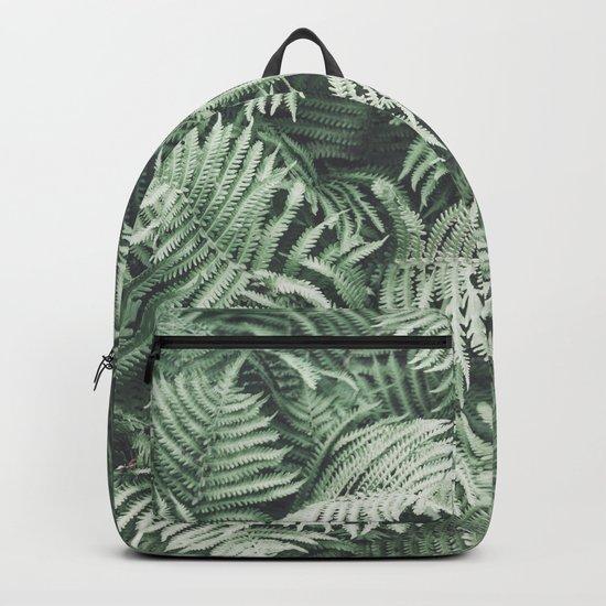 Fern Pattern Emerald Green Backpack