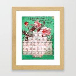 Vintage poster - F. Barteldes Seed Calendar Framed Art Print