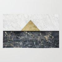 pyramid Area & Throw Rugs featuring  Pyramid by Simona Sacchi