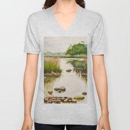 River side Unisex V-Neck