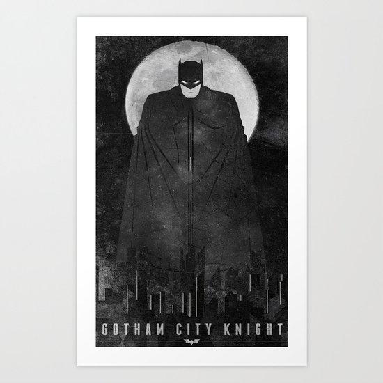 Gotham City Knight Art Print
