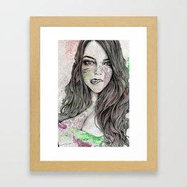 U-Turn (busty girl with mandala tattoos) Framed Art Print
