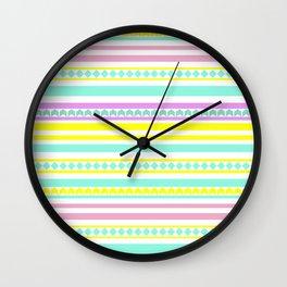 Bright striped pattern Wall Clock