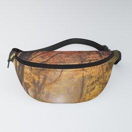 Autumn Fall Forest Path -  Nature Landscape Photography Fanny Pack