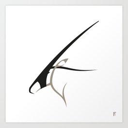 Oryx gazella Art Print