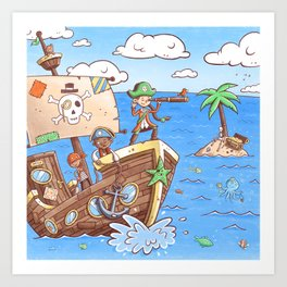 Even Pirates Need to Listen Art Print