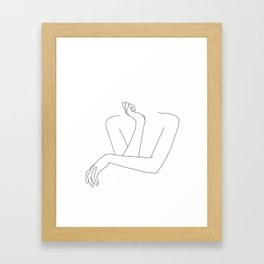 Minimal line drawing of woman's folded arms - Anna Gerahmter Kunstdruck