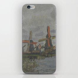 Windmills near Zaandam iPhone Skin