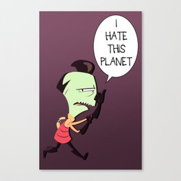 I HATE THIS PLANET Canvas Print