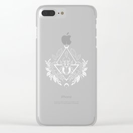 Scarab Queen // B&W 02 Clear iPhone Case