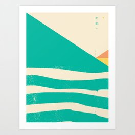Secret Surf Map 002 — Matthew Korbel-Bowers Art Print