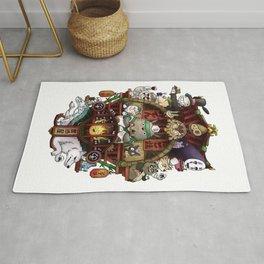 Ghibli Izakaya Print Coloured Rug