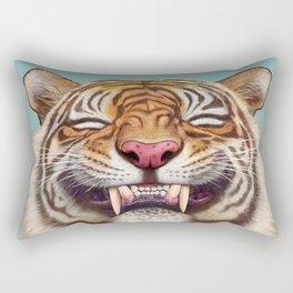 Smiling Tiger Rectangular Pillow