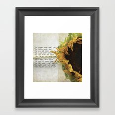 this dream never ends Framed Art Print