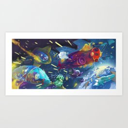 Fight Art Print