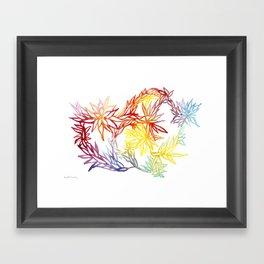 Flower Burst Color High Framed Art Print
