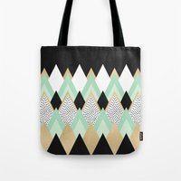 queen Tote Bags featuring Queen by Elisabeth Fredriksson