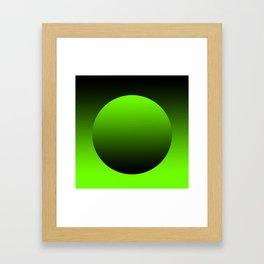 Green grocery bag Framed Art Print