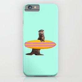 SURFING OTTER iPhone Case
