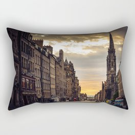 Royal Mile Sunrise in Edinburgh, Scotland Rectangular Pillow