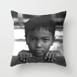 Children eyes of the Vietnamese innocence Throw Pillow