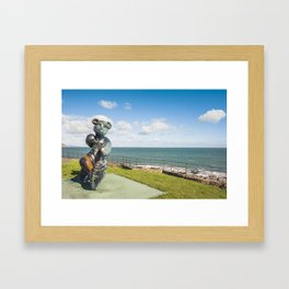 Irish landscape in Greystones Framed Art Print