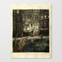 rat Canvas Prints featuring Rat by Jordan Walsh