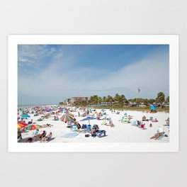 Relaxing at Fort Myers Beach Art Print