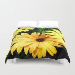 Happy Yellow Flowers Duvet Cover