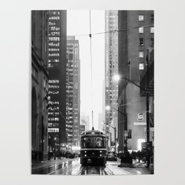 Memories of a streetcar street photography Toronto Downtown Poster