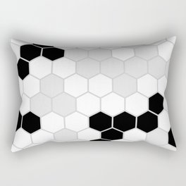 Honeycomb Pattern | Black and White Design | Minimalism Rectangular Pillow