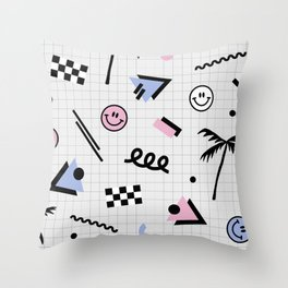 Smiley faces all day Throw Pillow