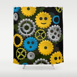 Happy Gears Shower Curtain