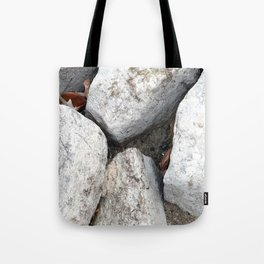 Between a Rock and a Hard Place Tote Bag