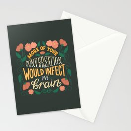 Shakespeare Quote Lettering - Conversation Infect Brain Stationery Cards