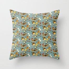 YellowStone Kid Throw Pillow