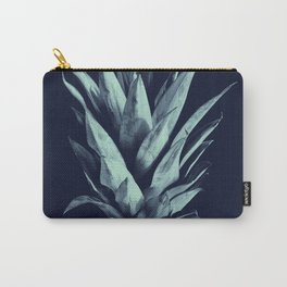 Navy Blue Pineapple Dream #1 #tropical #fruit #decor #art #society6 Carry-All Pouch
