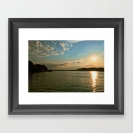 Smith Mountain Sunset. Framed Art Print